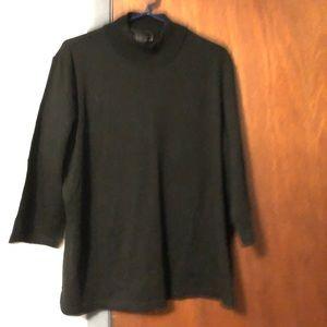 Mock neck 3/4 sleeve sweater
